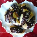 Plate of Petrali - Calabrian Fig Cookies chocolate icing