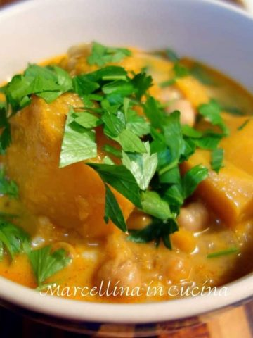 Pumpkin and Chickpeas Soup
