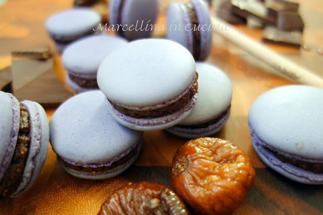 Macarons in a pile on the table