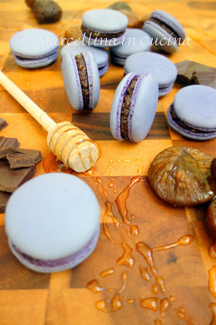 Portrait shot of macarons on the table