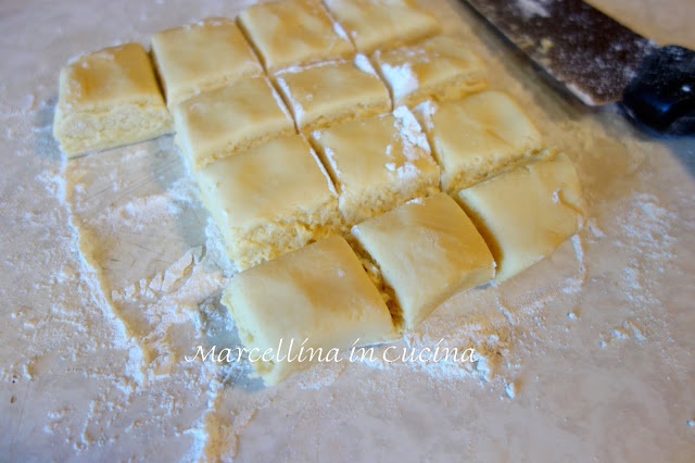 Turkish Syrup Cookies dough being portioned