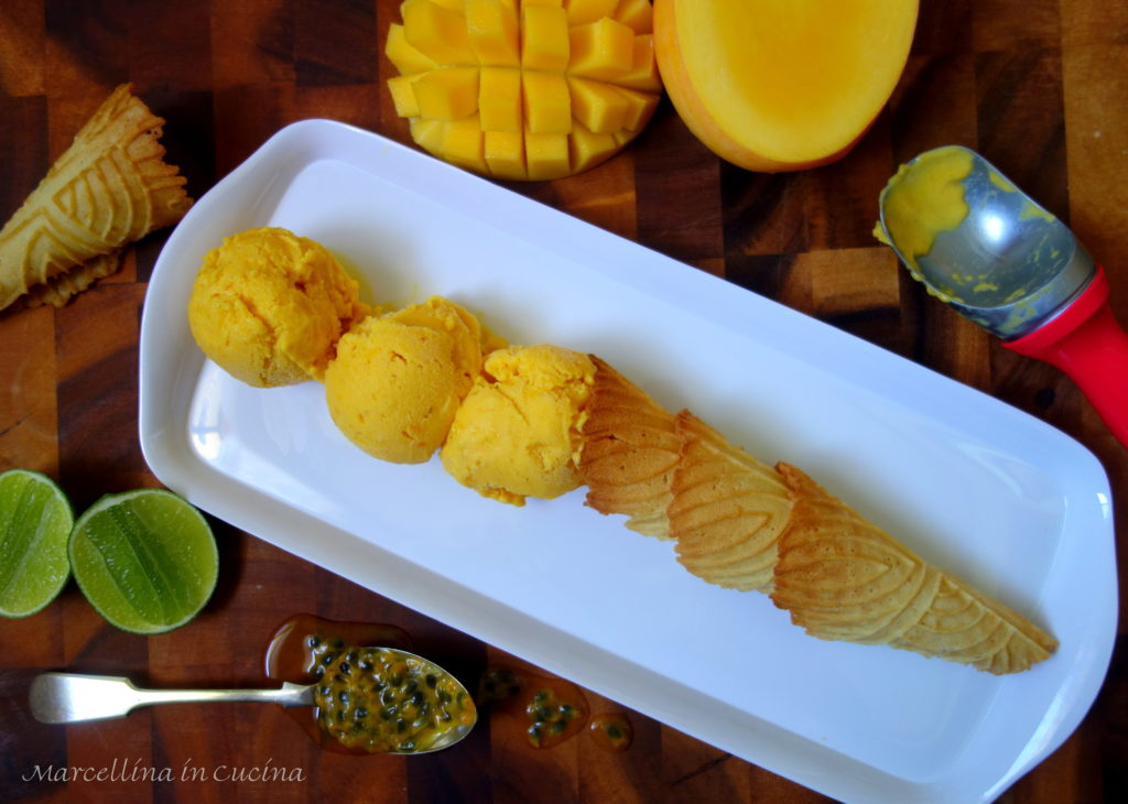 Mango and Passionfruit Ice Cream