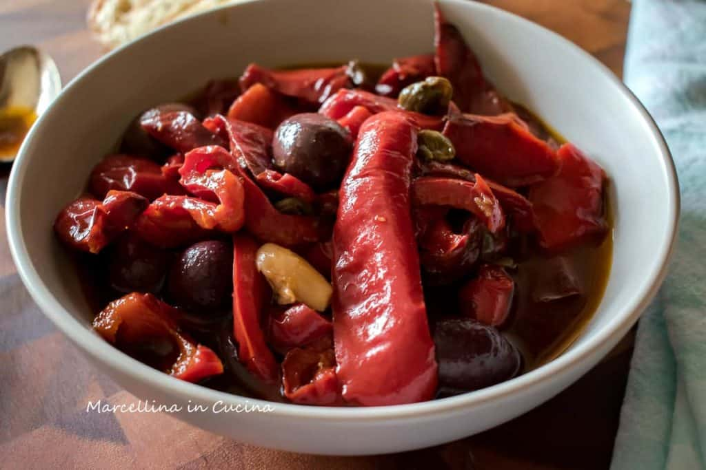Sweet and Sour Peppers in a bowl