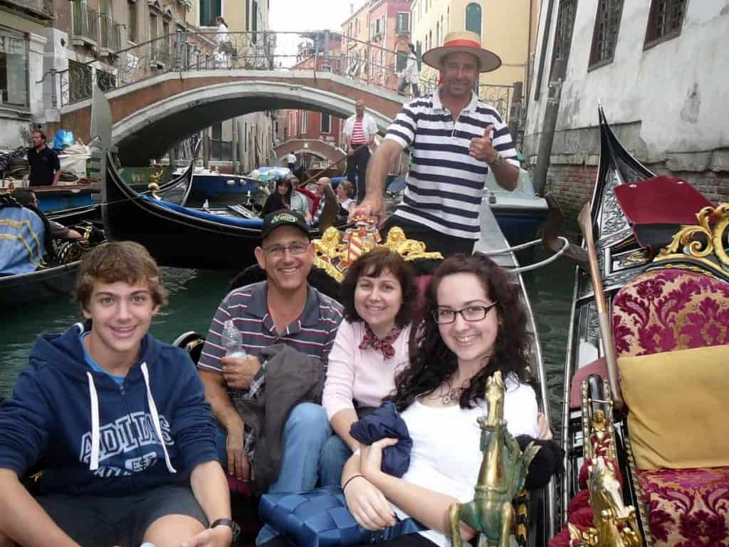 Marcellina with husband and children in Italy 2012