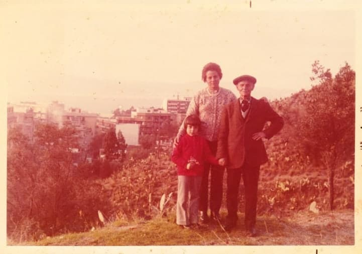 Marcellina, mum and nonno in Italy 1973