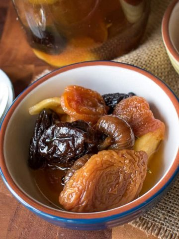 Bowl of Spiced Dried Fruit with Rum