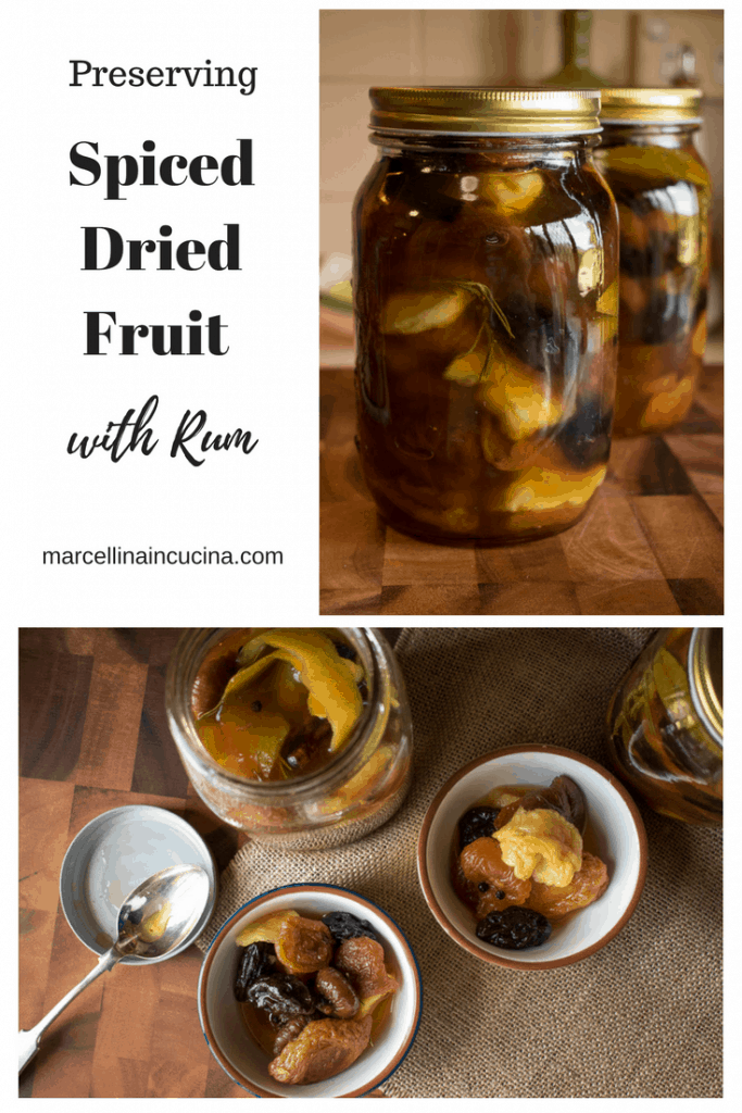 Spiced Dried Fruit with Rum