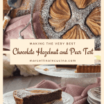 Chocolate Hazelnut and Pear Tart Pin