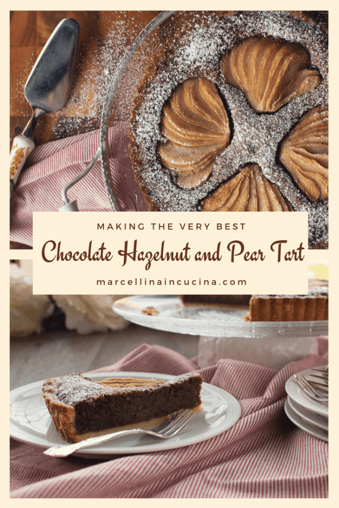 Chocolate Hazelnut and Pear Tart Pin