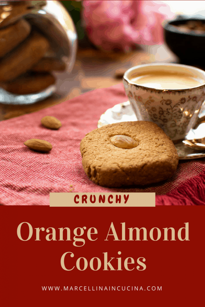 Orange Almond Cookies for pinterest