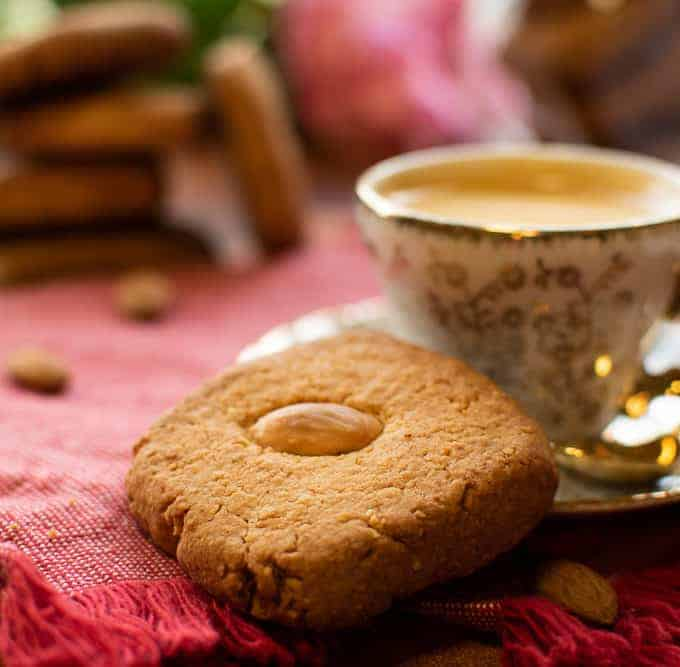 Orange Almond Cookies with espresso