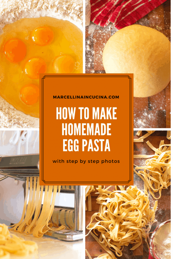 Homemade Egg Pasta is a world away from the store bought stuff and with this recipe and these step by step photos, you can be a pasta professional! #homemadepasta #eggpasta #howtomakepasta #recipe #pasta recipe