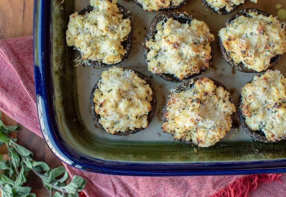 Baked Mushrooms stuffed with Ricotta