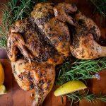 Butterflied Roast Chicken with herbs
