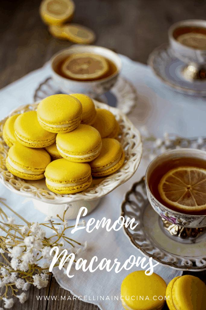 Lemon Macaron pin for pinterest