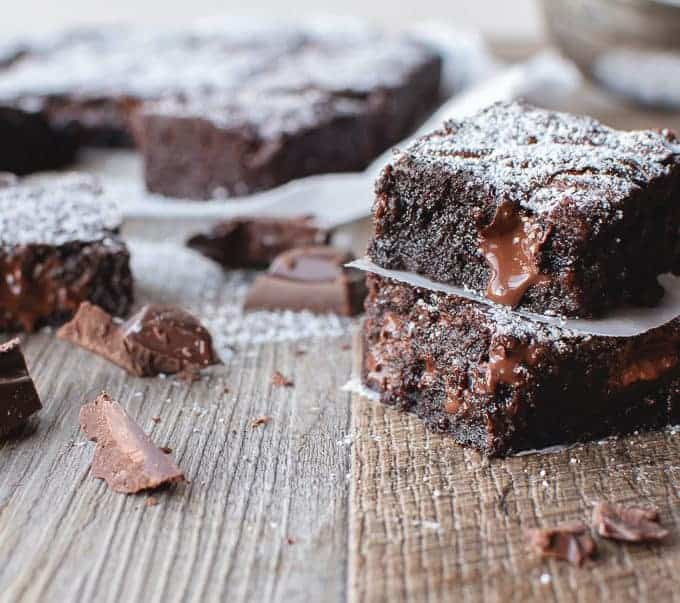 easy brownies close up