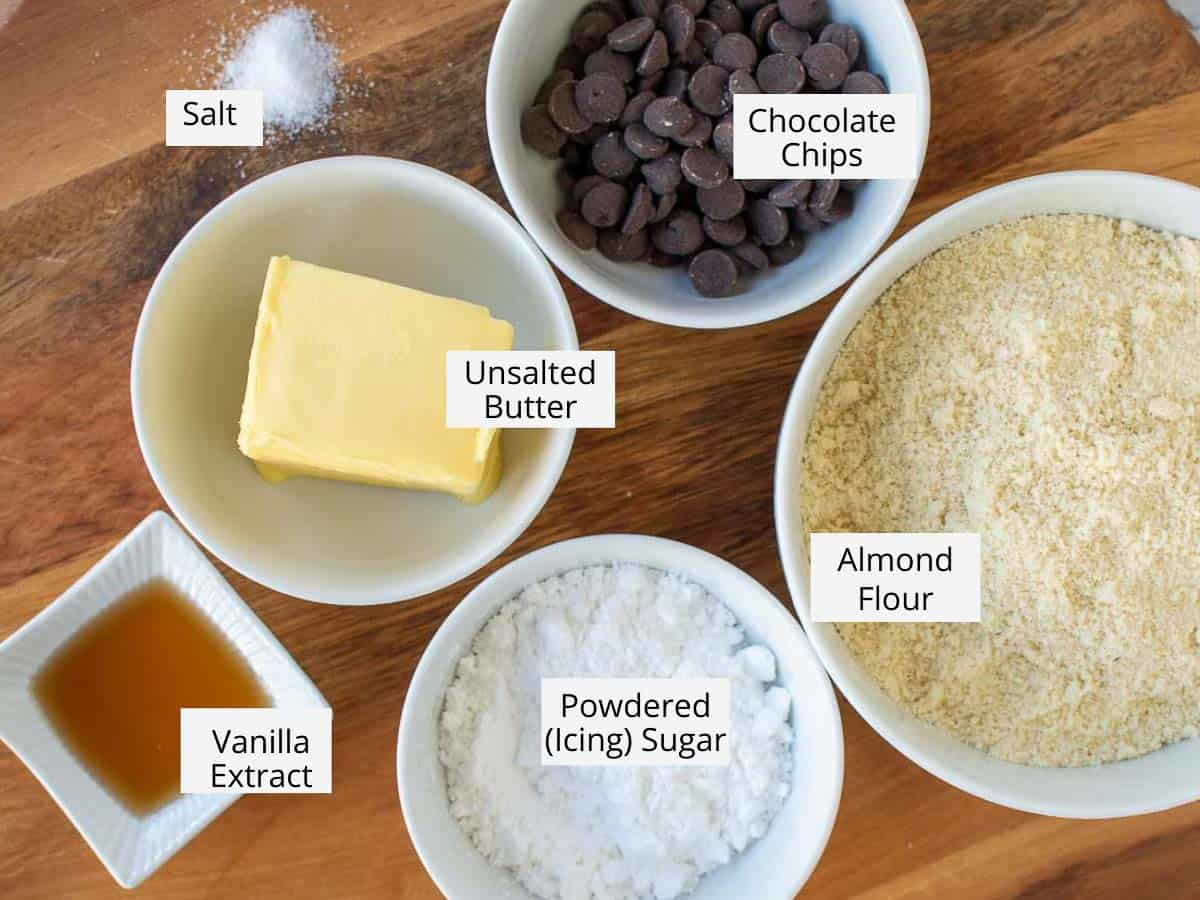 ingredient for almond flour cookies as in the recipe card.